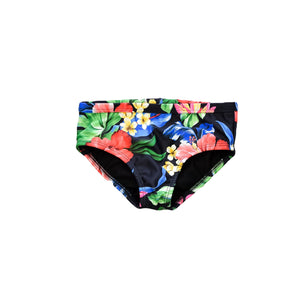 Swim Bottom - Black Floral