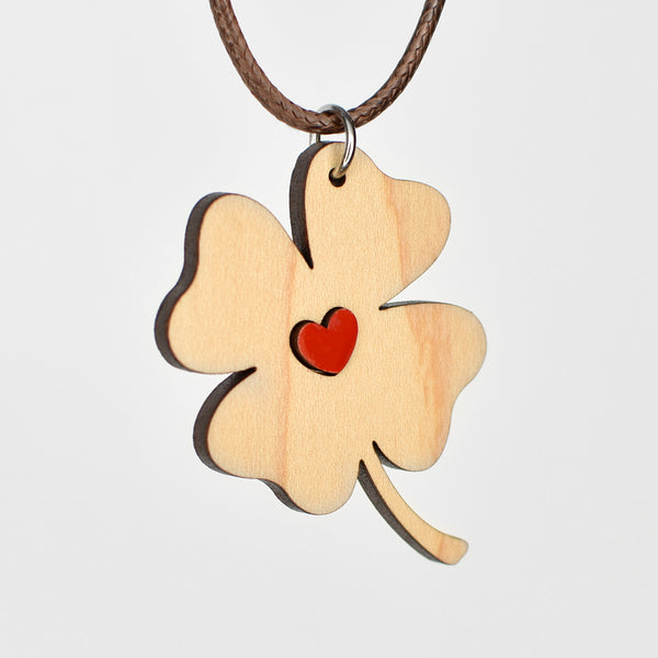 Necklace - Clover + Heart