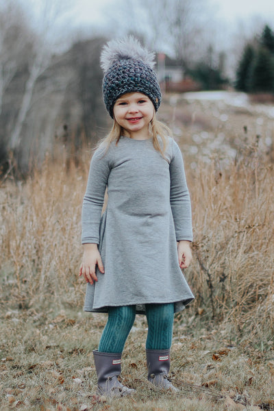 Everly Dress - Gray