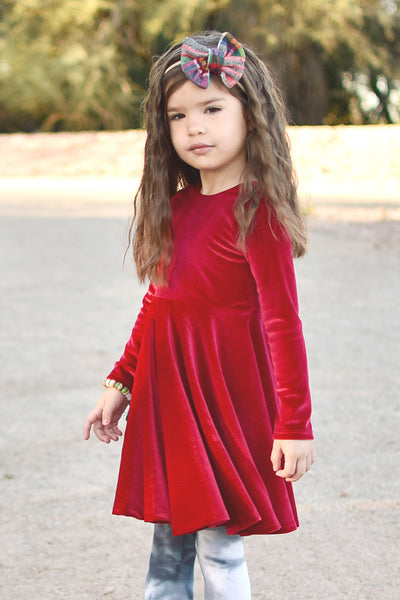 Twirl Dress - Red Velvet