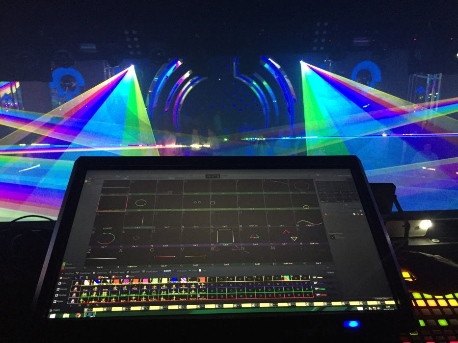 Live Laser Shows can exist as free laser shows