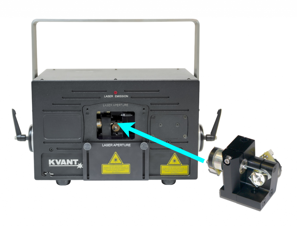 Laser Show Projector with Fast Scanners