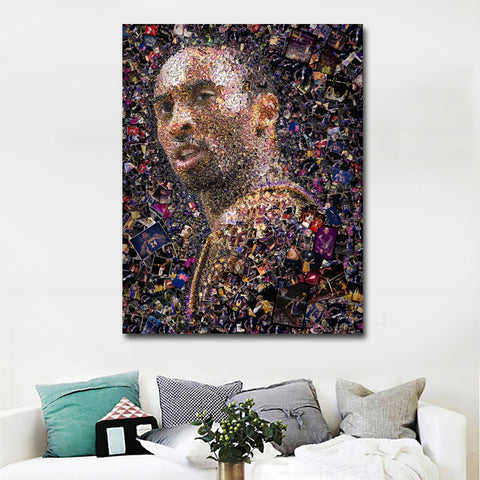 Kobe Bryant Star Portrait Canvas