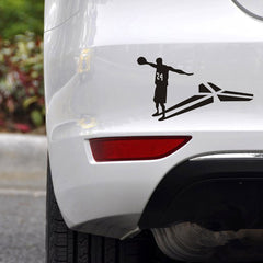 JL 15cm*8cm NBA celebrity Kobe  Bryant 24Number personality Car stickers motion Vinyl Decals