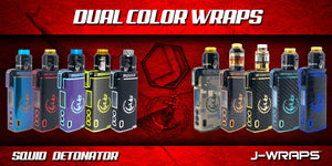 Squid Detonator wraps and covers protect and decorate your mod.  Detonator skins and covers.  Customize your Detonator today with jwraps.com