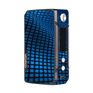 Blue Wavy Grid Voopoo Drag Mini Skins