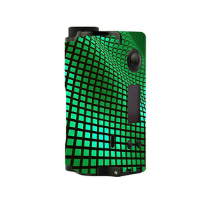 Green Wavy Grid Topside Squonk Skins