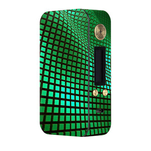 Green Wavy Grid Dotmod DNA75 Skins