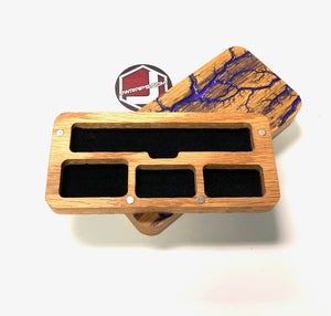 JUUL Wood Case Fractal Burned with Epoxy Resin