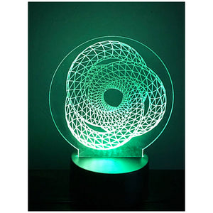 3D illusion LED night light