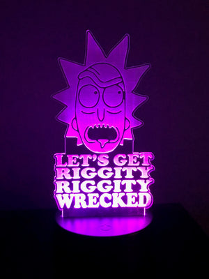 "3D Illusion ""Let's Get Riggity Riggity Wrecked"" Night Light, Rick and Morty"