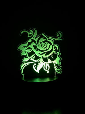 3D Illusion LED Rose Night Light by JWraps