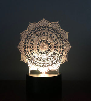 3D illusion LED Mandala night light
