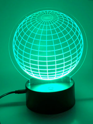 3D Illusion LED Globe Night Light by JWraps