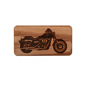 Engraved Motorcycle Bo Travel Case Wood