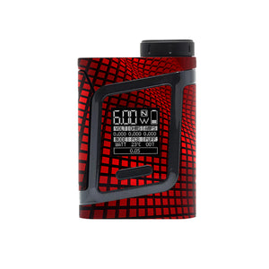 Red Wavy Grid Smok Al85 Skins
