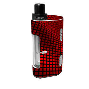 Red Wavy Grid Cupti 2 80W Skins