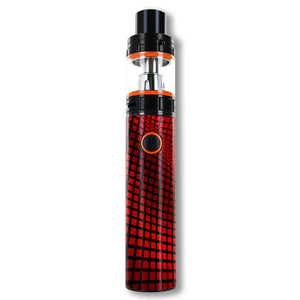 Red Wavy Grid Smok Stick V8 Skins