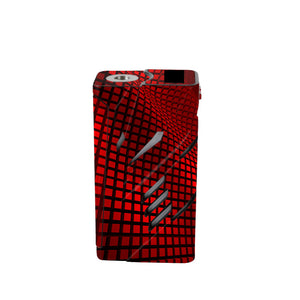 Red Wavy Grid T-priv Skins