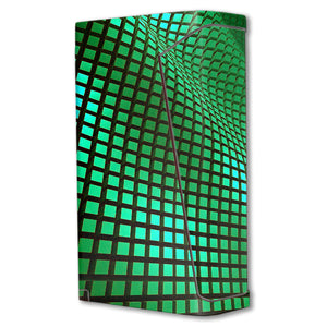Green Wavy Grid H-priv Mini Skins