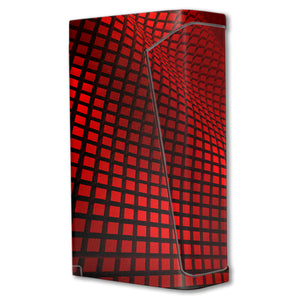 Red Wavy Grid H-priv Mini Skins