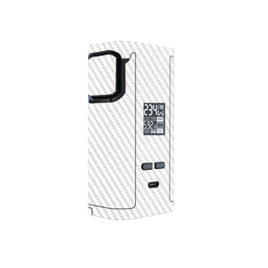 White Carbon Fiber Captain 225w Skins