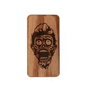 Engraved Zombie Juno Travel Case Wood