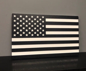 USA American Flag Black and White, Wall Art , Design 1 by Jwraps