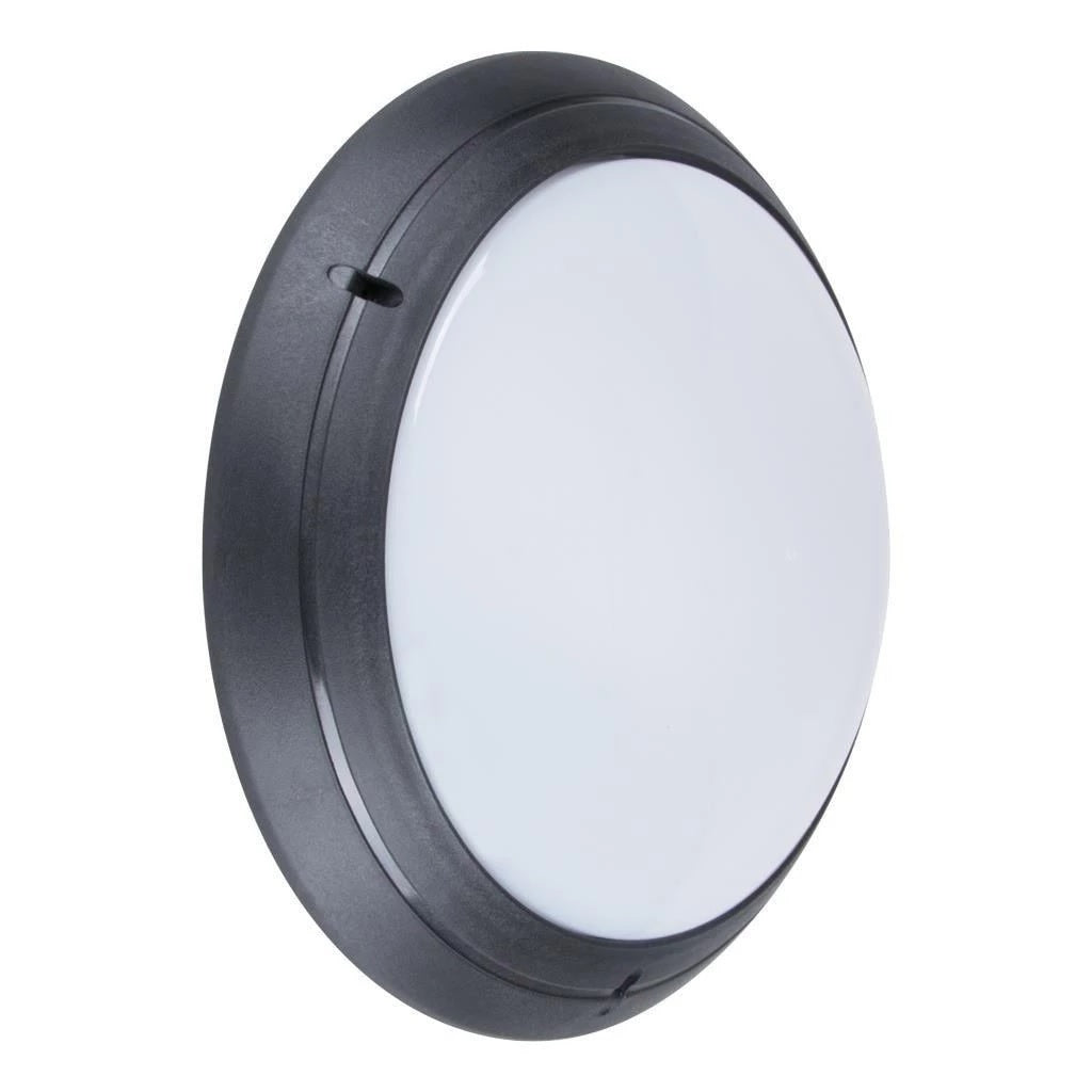 Wall Light Exterior Round Plain in Black or White E27 Domus Lighting - Oz Lights Direct