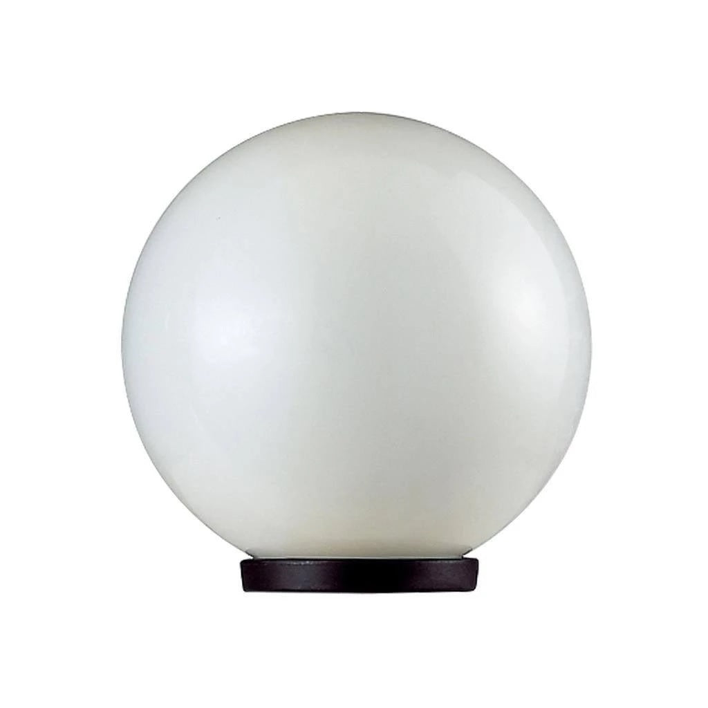 Post Bollard Top Light Opal or Smoke Sphere E27 in 20cm 25cm 30cm 40cm Domus Lighting - Oz Lights Direct
