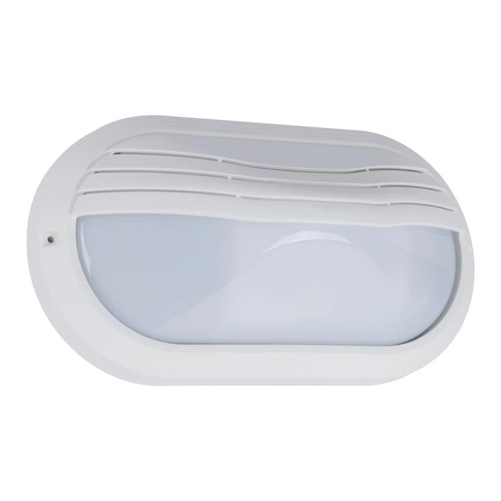 Wall Bunker Light Exterior Oval Eyelid in Black or White 27cm Domus Lighting - Oz Lights Direct
