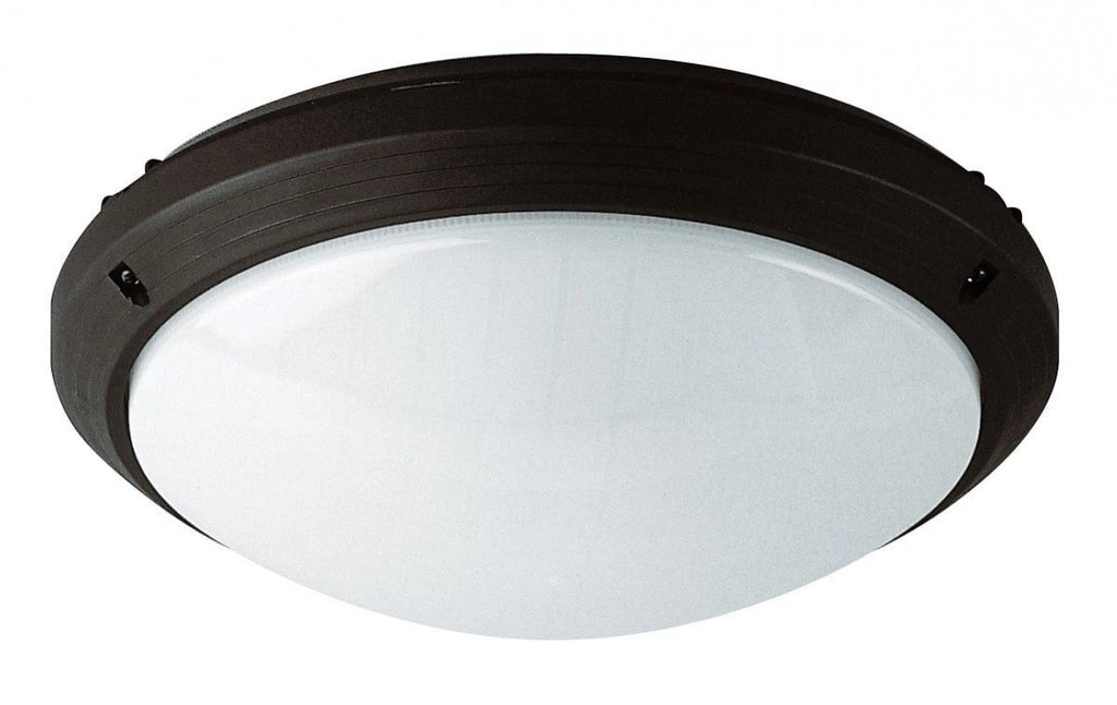 Bunker Round Plain in Black Silver or White E27 Domus Lighting - Oz Lights Direct