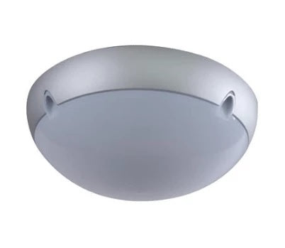 Wall Ceiling Light Exterior Round in Silver 34cm Domus Lighting - Oz Lights Direct