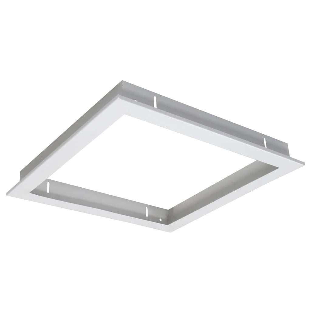 Domus Lighting TRIM-303 Square Recessed Panel Trim - Satin White Trim - Oz Lights Direct