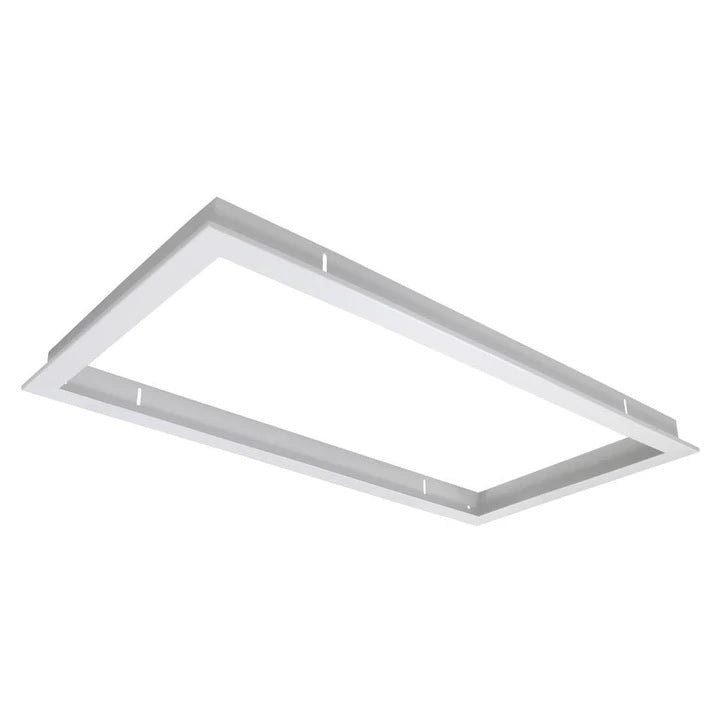 Domus Lighting TRIM-306 Rectangular Recessed Panel Trim - Satin White Trim - Oz Lights Direct