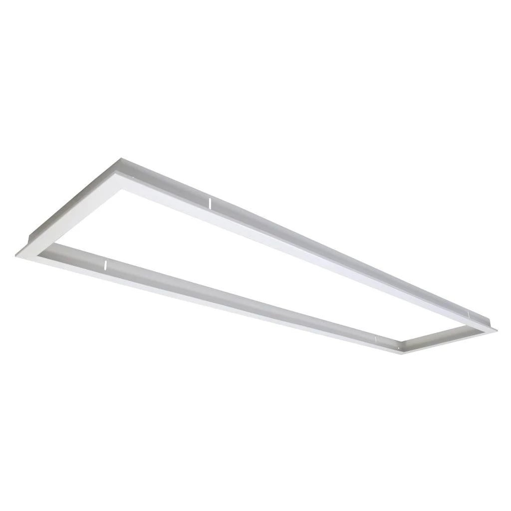 Domus Lighting TRIM-312 Rectangular Recessed Panel Trim - Satin White Trim - Oz Lights Direct