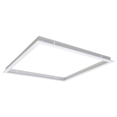 Domus Lighting TRIM-606 Square Recessed Panel Trim - Satin White Trim - Oz Lights Direct