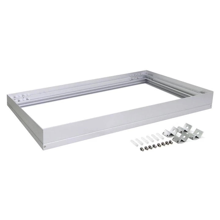 Domus Lighting SM KIT-306 Rectangular Surface Mounted Panel Frame - Aluminium Finish - Oz Lights Direct