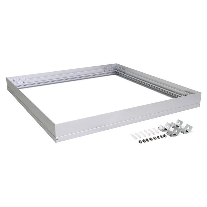 Domus Lighting SM KIT-606 Square Surface Mounted Panel Frame - Aluminium Finish - Oz Lights Direct