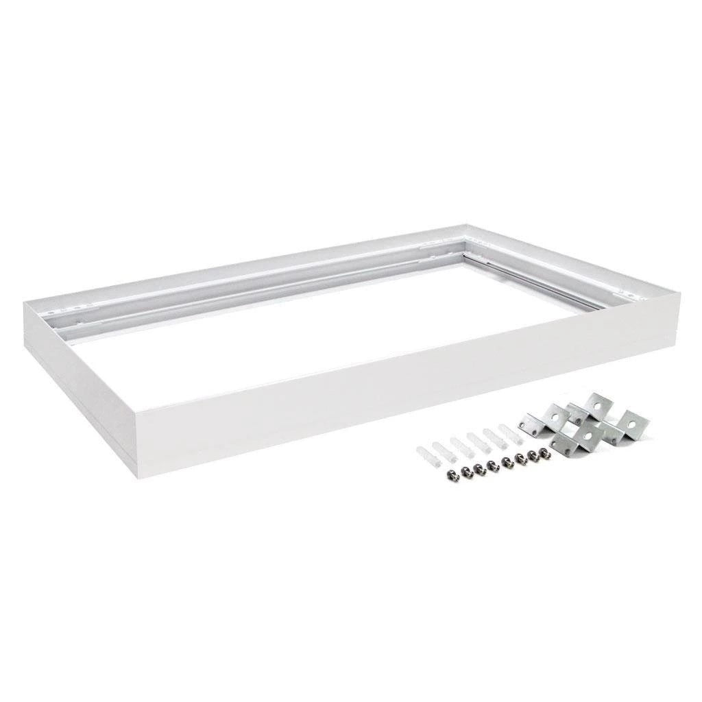 Domus Lighting SM KIT-306 Rectangular Surface Mounted Panel Frame - White Finish - Oz Lights Direct