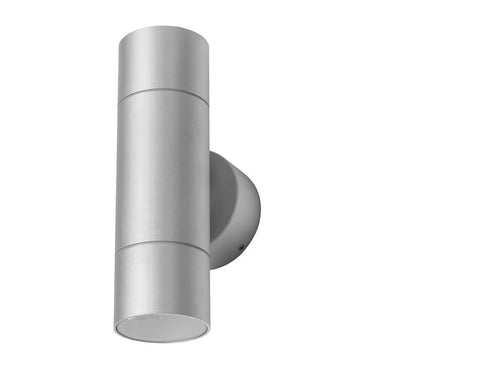 LED Wall Light Twin Outdoor Aluminium GU10 IP54 Elite (No Lamp) Domus Lighting - Oz Lights Direct