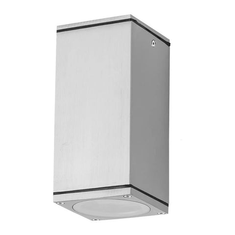 Domus Lighting ALPHA-SM Rectangular 240V 6W IP54 LED Ceiling Light - Anodised Aluminium Finish - Oz Lights Direct