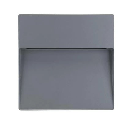 LED Wall Light Exterior Surface Mount Square 9W in Silver or Dark Grey Zeke Domus Lighting - Oz Lights Direct
