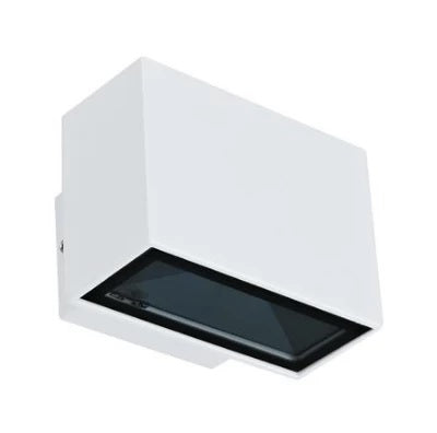 LED Wall Light Twin Silver or White in 6W 240V 9cm Block Mini in 3K and 5k Domus Lighting - Oz Lights Direct