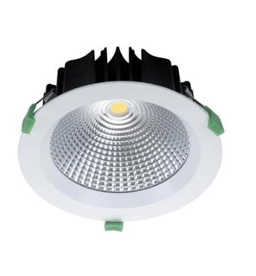 Domus Lighting NEO-25 Round 25W Dimmable LED Downlight - White Frame - Oz Lights Direct