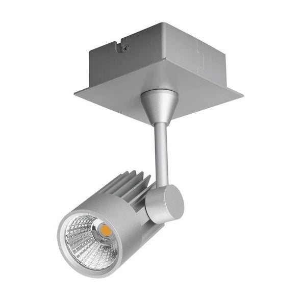 LED Spot Light 10W Dimmable in White or Silver w 3000K or 5000K Jet Domus Lighting - Oz Lights Direct