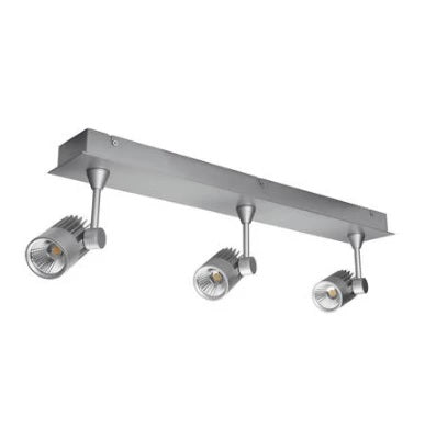 LED Spot Light Three Bar Dimmable 30W 240V in Silver 63cm Jet in 3K or 5K Domus Lighting - Oz Lights Direct
