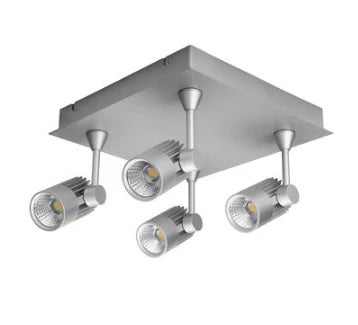 LED Spot Light 40W Dimmable in White or Silver w 3000K or 5000K Jet Domus - Oz Lights Direct