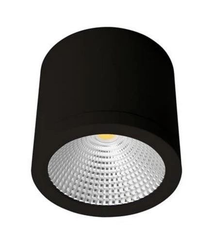 Domus Lighting NEO-SM-25 Cylindrical 240V 25W LED Ceiling Light - White/Black Finish - Oz Lights Direct