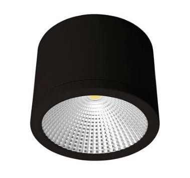 Domus Lighting NEO-SM-35 Cylindrical 240V 35W LED Ceiling Light - White/Black Finish - Oz Lights Direct